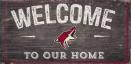 "Arizona Coyotes 6"" x 12"" Welcome Sign"