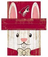 """Arizona Coyotes 6"""" x 5"""" Easter Bunny Head"""