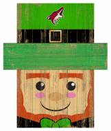 """Arizona Coyotes 6"""" x 5"""" Leprechaun Head"""