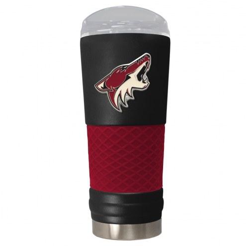Arizona Coyotes Black 24 oz. Powder Coated Draft Tumbler