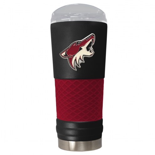 Arizona Coyotes Black 24 oz. Powder Coated Draft Tumbler