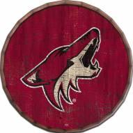 """Arizona Coyotes Cracked Color 16"""" Barrel Top"""