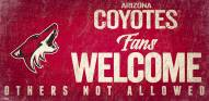 Arizona Coyotes Fans Welcome Sign