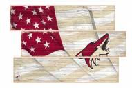 Arizona Coyotes Flag 3 Plank Sign