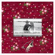 """Arizona Coyotes Floral 10"""" x 10"""" Picture Frame"""