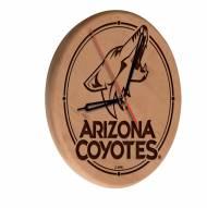 Arizona Coyotes Laser Engraved Wood Clock