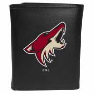 Arizona Coyotes Large Logo Leather Tri-fold Wallet