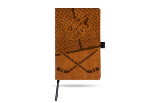 Arizona Coyotes Laser Engraved Brown Notepad