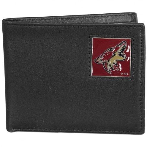 Arizona Coyotes Leather Bi-fold Wallet in Gift Box