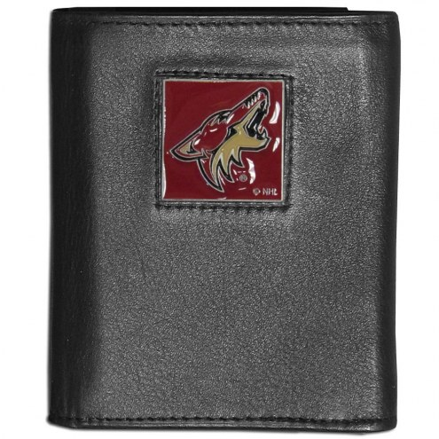 Arizona Coyotes Leather Tri-fold Wallet