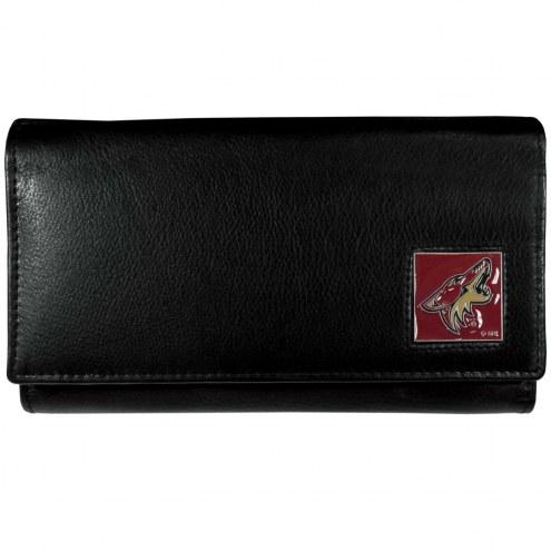 Arizona Coyotes Leather Women's Wallet
