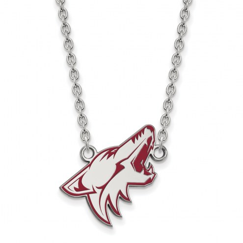 Arizona Coyotes Sterling Silver Large Pendant Necklace