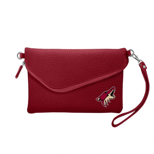 Arizona Coyotes Pebble Fold Over Purse