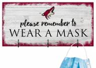 Arizona Coyotes Please Wear Your Mask Sign