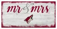 Arizona Coyotes Script Mr. & Mrs. Sign