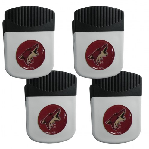 Arizona Coyotes 4 Pack Chip Clip Magnet with Bottle Opener