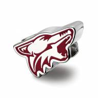 Arizona Coyotes Sterling Silver Enameled Bead