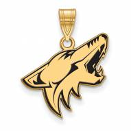 Arizona Coyotes Sterling Silver Gold Plated Large Enameled Pendant