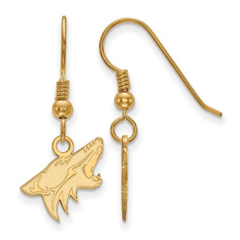 Arizona Coyotes Sterling Silver Gold Plated Small Dangle Earrings