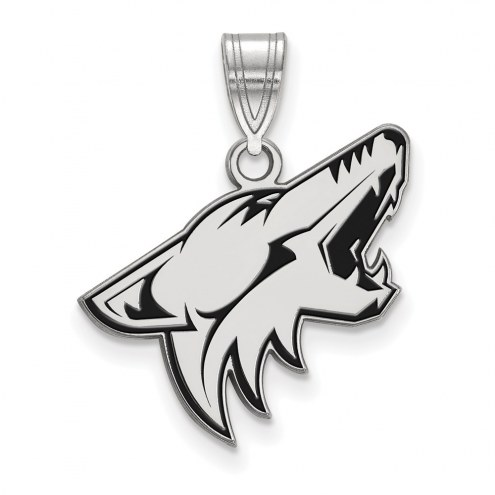 Arizona Coyotes Sterling Silver Large Enameled Pendant