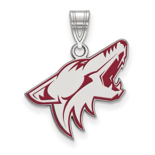 Arizona Coyotes Sterling Silver Large Enameled Pendant