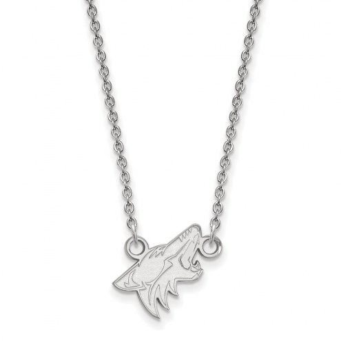 Arizona Coyotes Sterling Silver Small Pendant Necklace