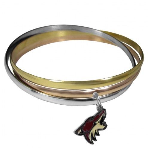 Arizona Coyotes Tri-color Bangle Bracelet