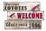 Arizona Coyotes Welcome 3 Plank Sign