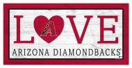 "Arizona Diamondbacks 6"" x 12"" Love Sign"