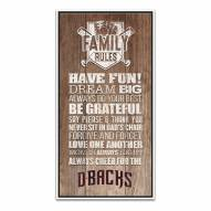 Arizona Diamondbacks Family Rules Icon Wood Framed Printed Canvas