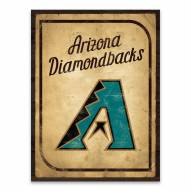Arizona Diamondbacks Vintage Card Printed Canvas