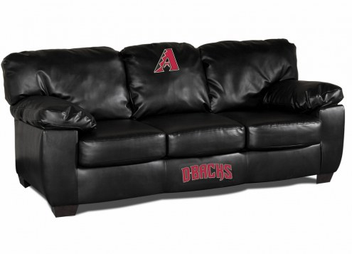 Arizona Diamondbacks Black Leather Classic Sofa