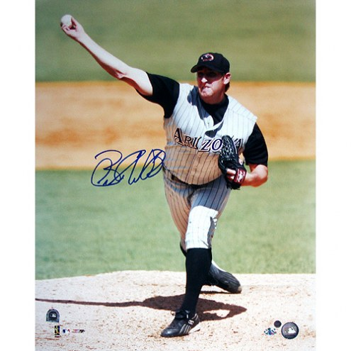 "Arizona Diamondbacks Brandon Webb Pitching Away Signed 16"" x 20"" Photo"