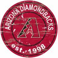 Arizona Diamondbacks Distressed Round Sign