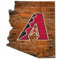 Arizona Diamondbacks Distressed State with Logo Sign