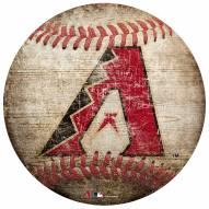 Arizona Diamondbacks Baseball Shaped Sign