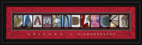 Arizona Diamondbacks Framed Letter Art