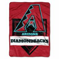 Arizona Diamondbacks Home Plate Plush Raschel Blanket