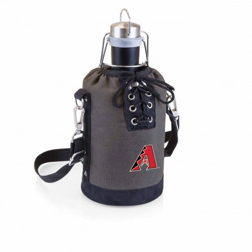 Arizona Diamondbacks Insulated Growler Tote with 64 oz. Stainless Steel Growler