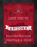 Arizona Diamondbacks Love You to and Back Framed Print