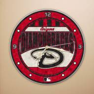 Arizona Diamondbacks MLB Stained Glass Wall Clock