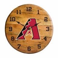 Arizona Diamondbacks Oak Barrel Clock