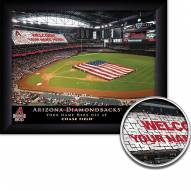 Arizona Diamondbacks 11 x 14 Personalized Framed Stadium Print