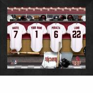 Arizona Diamondbacks  Personalized Locker Room 11 x 14 Framed Photograph