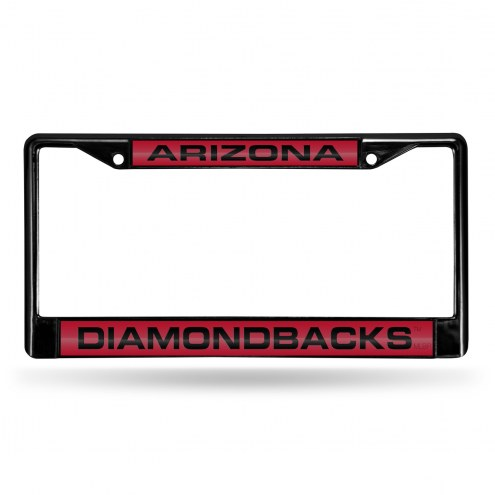 Arizona Diamondbacks Laser Black License Plate Frame