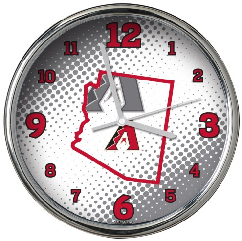 Arizona Diamondbacks State of Mind Chrome Clock