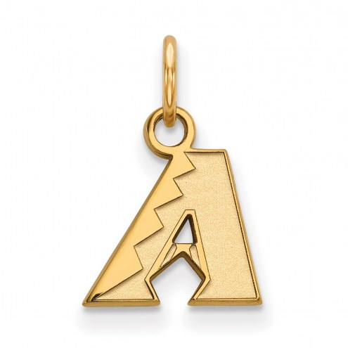 Arizona Diamondbacks Sterling Silver Gold Plated Extra Small Pendant