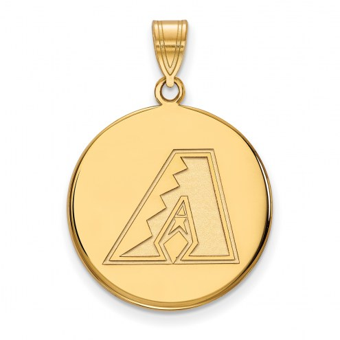 Arizona Diamondbacks Sterling Silver Gold Plated Large Disc Pendant