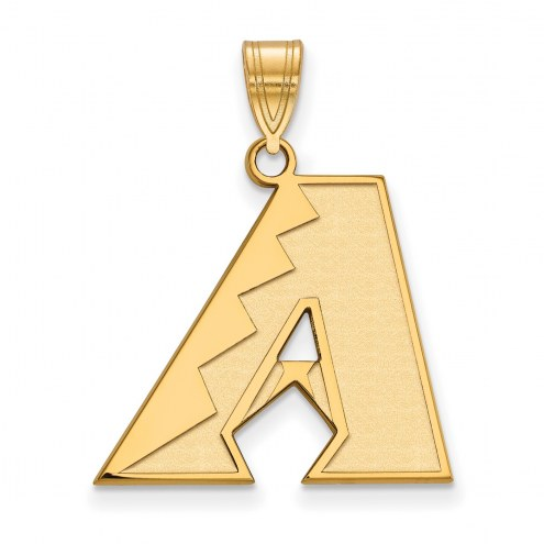Arizona Diamondbacks Sterling Silver Gold Plated Large Pendant