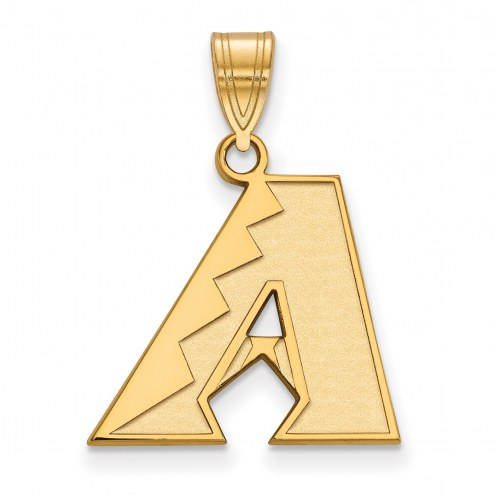 Arizona Diamondbacks Sterling Silver Gold Plated Medium Pendant